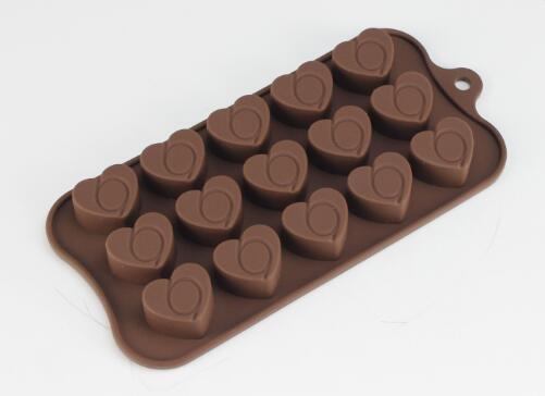 惠州心形硅胶巧克力模