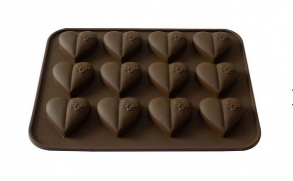 心形硅胶巧克力模